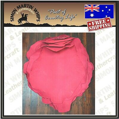 RED Color VEG TANNED Kangaroo leather skin hide for plaiting whip making etc.
