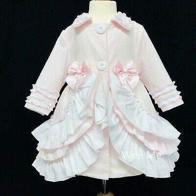 New Arrival Baby Girl Infant Long Sleeve Frilly Jacket Double Romany Detail