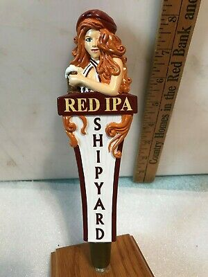 SHIPYARD BREWING RED IPA 8 inch beer tap handle. Portland, Maine