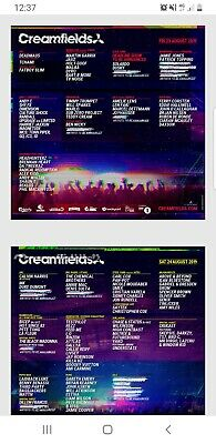 2 Creamfields 2019 full weekend Camping Gold Ticket For Sale!