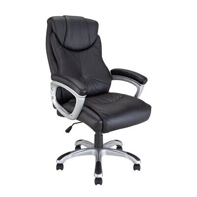 Argos Office Chair PU Leather Swivel High Back Executive Office Chair - Black