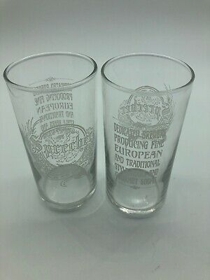 Sprecher Ales and Lagers Beer Glass Bar Glasses Lot of 2 Milwaukee Brewery