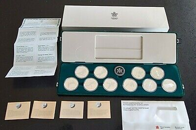 1988 Canada Calgary Olympics 10 Coin Proof Set + Original Box/COA #coinsofcanada