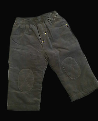 CLEARANCE SALE Charcoal grey Catimini corduroy baby boy trousers - 9 months