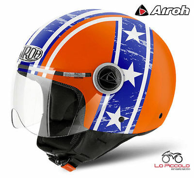 CPPH32 Helm Airoh Compact pro Hazzard Orange Gloss S URBAN Jet