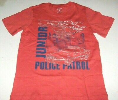 NWT CARTER'S Boys 24 Months, 3T Red JUNIOR POLICE PATROL T-Shirt Short Sleeves