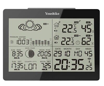 Youshiko YC9360 Weather Station - Black - Super Condition - Low Start - Boxed