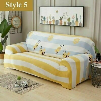 1/2/3/4 Elastic Sofa Couch Slipcover Stretch Covers Fabric Settee Protector Fit