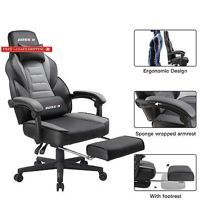 Gaming Chair Racing Style Office Ergonomic Chair High-Back Pu Leather Design Pc