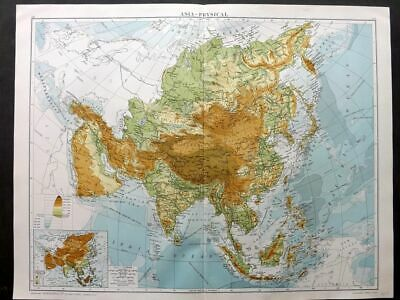 Gross 1920 Large Map. Asia - Physical