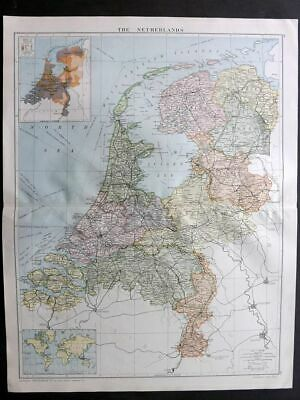 Gross 1920 Large Map. The Netherlands - Holland