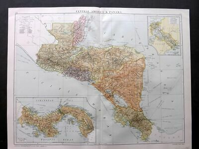 Gross 1920 Large Map. Central America & Panama