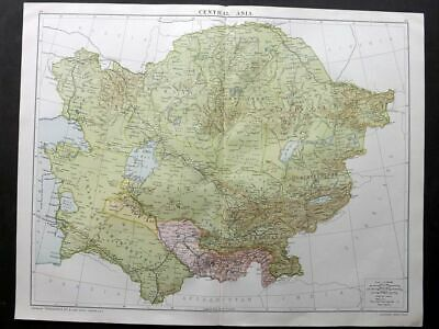 Gross 1920 Large Map. Central Asia