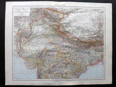 Times 1895 Antique Map. India, North