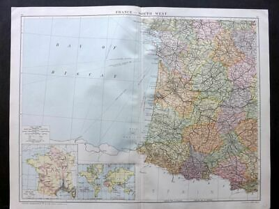 Gross 1920 Large Map. France - South West