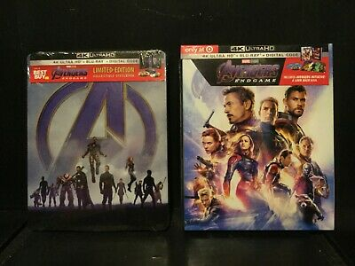Avengers Endgame (4K UHD+BLU-RAY+DIGITAL HD) DIGIBOOK TARGET ONLY SEALED NEW