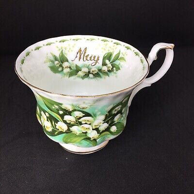 Royal Albert Flower Of The Month Series Cup MAY Lily of the Valley Birthday Gift