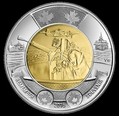 2016 CANADA $2 BATTLE OF THE ATLANTIC 75th Anniversary SEALED TOONIE Coin