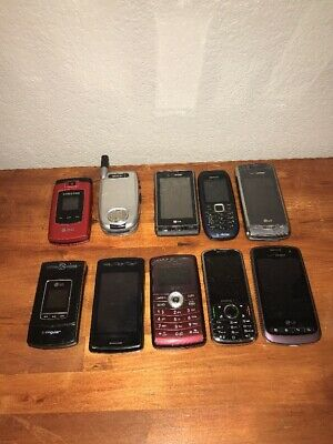 Vintage Lot Of Cell Phones 10 Total