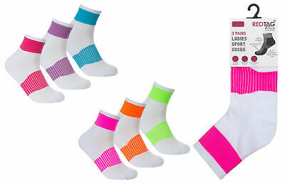 Red Tag Womens Sports Socks Girls Multi Pack School Gym Active Ankle Socks Cheap