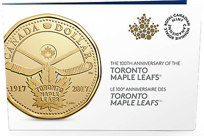 2017 CANADA $1 TORONTO MAPLE LEAFS Anniv. Loonie 5-Pack EMPTY FOLDER NO COINS!