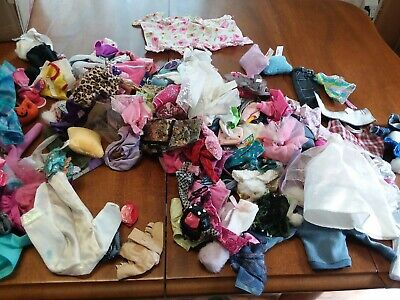 Huge Lot Of Doll Clothes and accessories Barbie Bratz Ect
