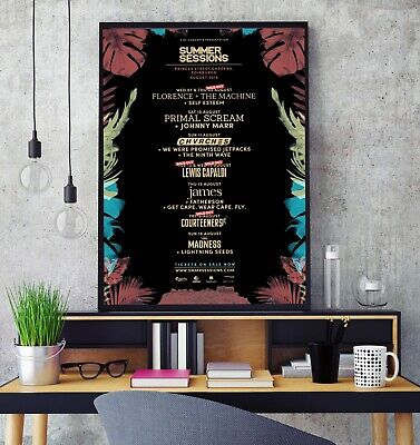 Glasgow Summer Sessions 2019 Line Up Premium Poster Print Professional Grade HD