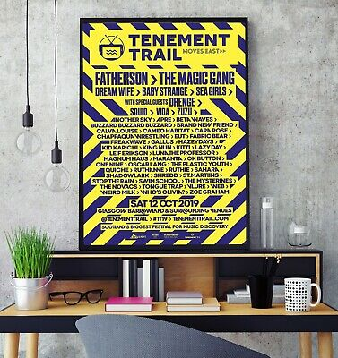 Tenement Trail Festival Line Up 2019 Premium Poster Print Professional Grade HD