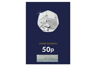 2019 Uk Paddington Bear At The Tower London Certified Bu 50P- Official Uk Issue