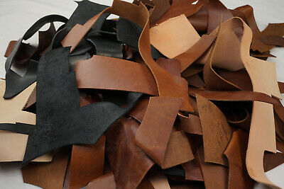 Mix Veg tan Leather pieces -Tooling/Stamping Vegetable tanned offcuts