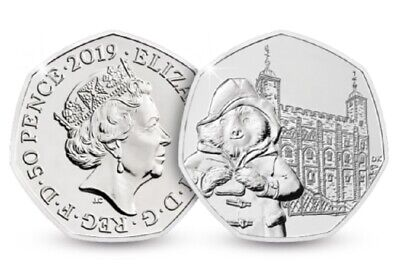 2019 Uk Paddington Bear At The Tower London Uncirculated Coin 50P Fifty Pence