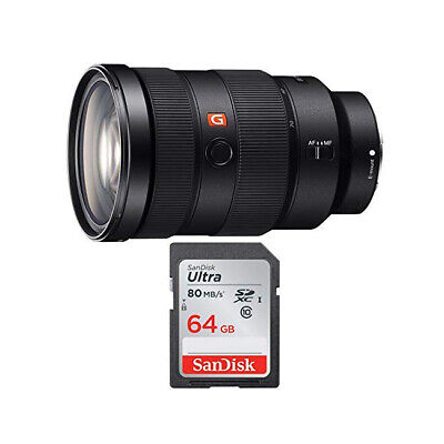 Sony FE 24-70mm f/2.8 GM Lens + 64GB SD Card