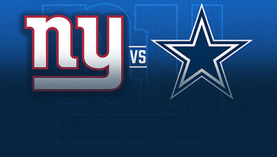 Two Lower Level New York Giants Tickets vs Dallas Cowboys with Parking 11/4