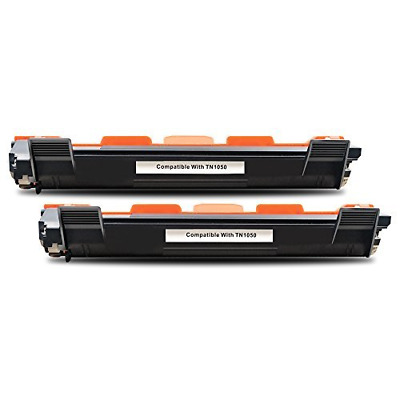 BeOne® Compatible Toner Cartridge Replacement for Brother TN1050 Black, 2 Packs,