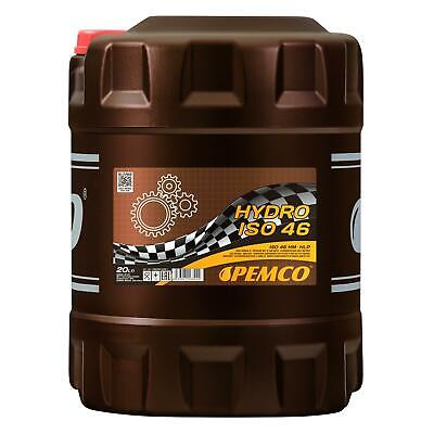 20 (1x20) Litre Pemco Hydro Iso 46 Huile Hydraulique Hlp 46