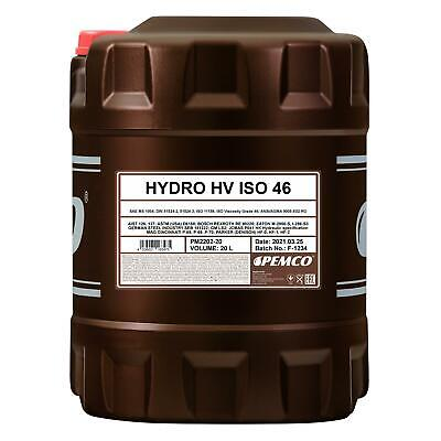 20 (1x20) Litre Pemco Hydro Hv Iso 46 Hvlp 46 Huile Hydraulique