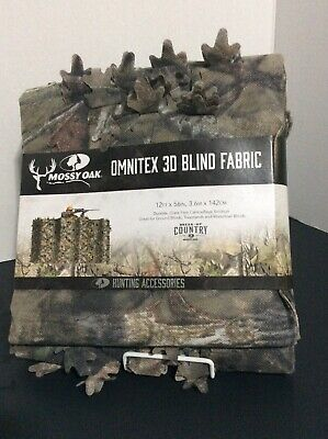 "Mossy Oak Omnitex 3D Blind Fabric  BreakUp Country Camouflage 12' x 56"" - NEW"
