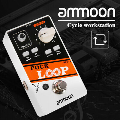ammoon Looper Guitar Effect Pedal 11 Loopers Playback Reverse True Bypass Max330