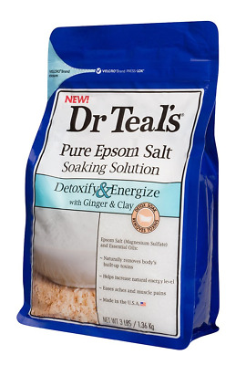 Dr Teal's Pure Epsom Salt Soaking Solution to Detoxify and Energize with Ginger