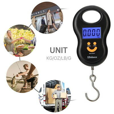 Portable Travel 110lb/50kg LCD Digital Hanging Luggage Scale Weight with Hook