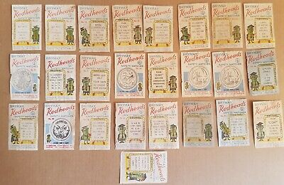 Brymay Redhead Matchbox Covers- 50's to 70's- 100's of them-good to fair cond.