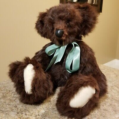 "Hand Made Mink Fur Teddy Bear 12"" jointed"