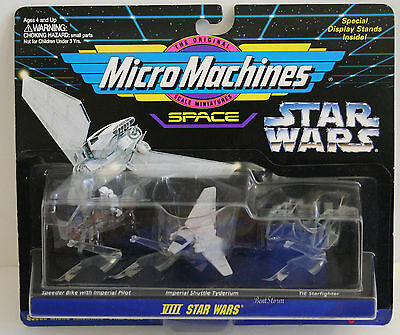 Star Wars 1995 Micro Machines 3 Pack w/ Stands Sealed 65860 Collection VIII (8)