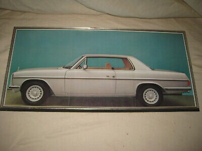 "Mercedes Benz Framed Poster 250C W114 Germany Brouchure Tri Fold 11"" x 24"""