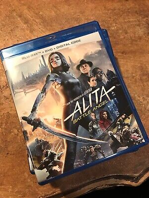 Alita: Battle Angel Blu-ray And Dvd. No Code. Open But New! Unused