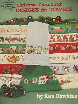 Christmas Cross Stitch 31 Designs For Towels/Borders See Photos For Designs