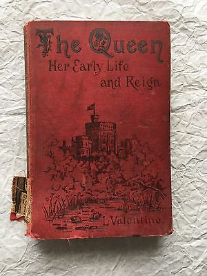 Antique Warne's 1887 The Queen Her Early Life Reign Prop Book Scrapbook