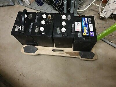 Four 6 v deep cycle batteries for a golf cart / marine-boat / solar storage