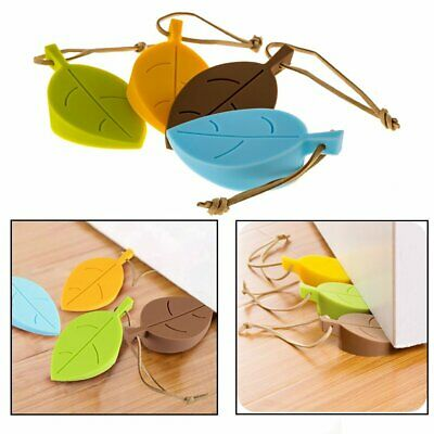 4x Stopper Safety Door Stop Leaf Home Baby Decor Doorstop Wedge Silicone Finger