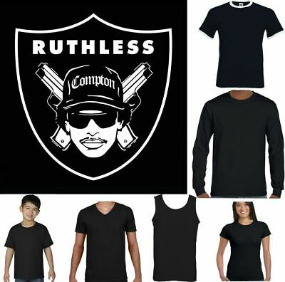Eazy E Compton Raiders T-Shirt NWA Oakland Ruthless Records Straight Outta